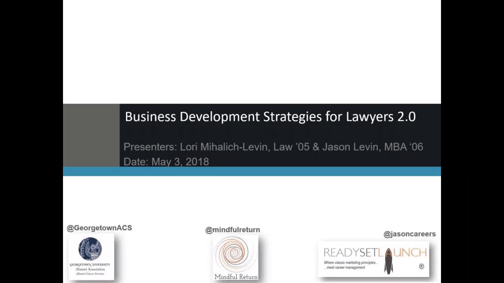 Business Development Strategies for Lawyers 2 0 0-8 screenshot